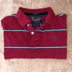 ABERCROMBIE AND FITCH CLASSIC POLO LONG SLEEVE.